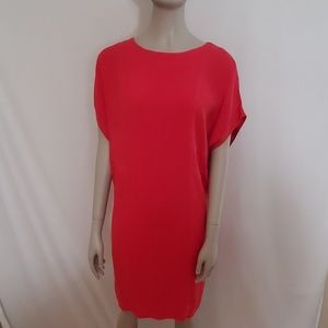 Lacoste Red Short Sleeved Dress